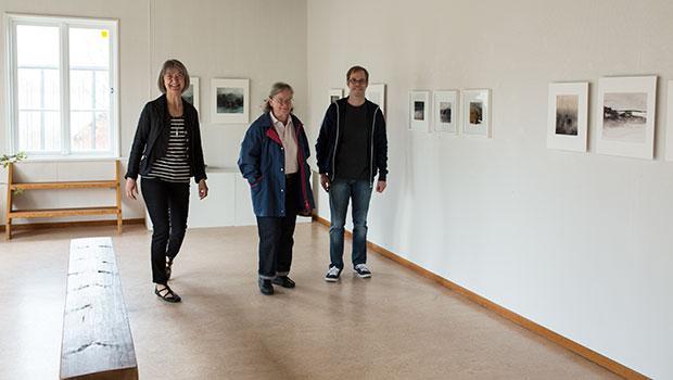 Ulla Taflin utställning akvareller och grafik i Binnebergs tingshus